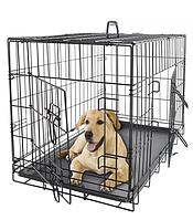 Клетка переноска для собак металлическая. Вольер. 91х61х67 см.