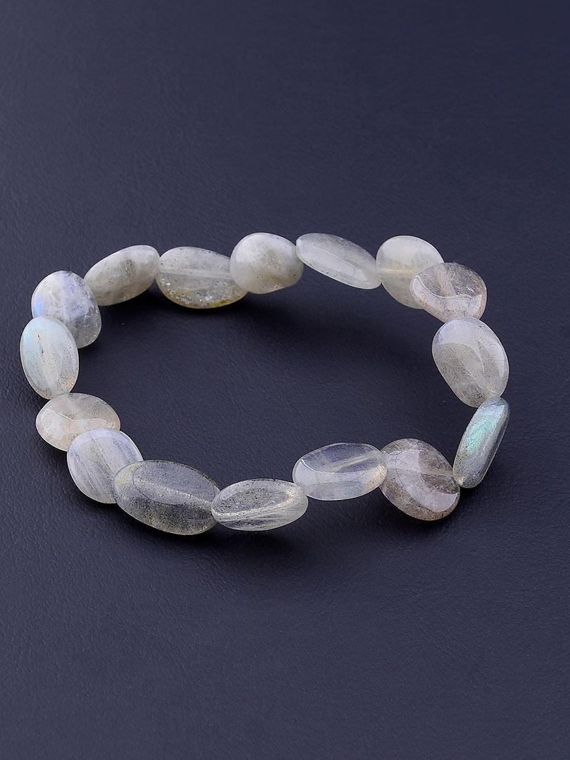Женский браслет из натурального камня Лабрадор 17 см