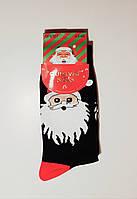 """Новогодние носки мужские  без махровые внутри хлопок """"Aura"""" 43-46"""