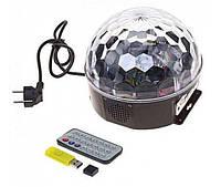 Диско шар Светомузыка USB MP3 Пульт Magic Ball