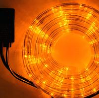 Гирлянда Шланг Дюралайт Теплый белый 2-х жильный, 1000 см, прозрачный провод, переходник (1-44)