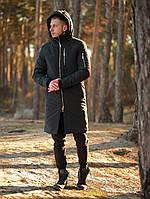 Зимняя мужская парка Снеговик Антрацит, парка зимнняя