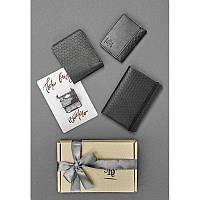 Мужской подарочный набор кожаных аксессуаров Милан