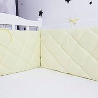 Захист у ліжечко HappyLittleFox basic Жовтий, фото 1