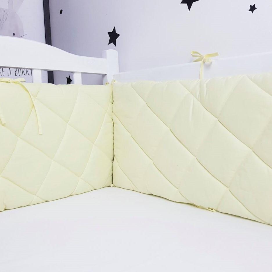 Захист у ліжечко HappyLittleFox basic Жовтий