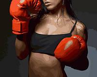Картины по номерам 40×50 см. Женский бокс, фото 1