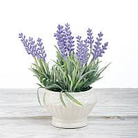 Декоративный вазон композиция из цветов в горшке Time-prezent лаванда сиреневая (0268-11-1)