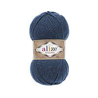 Пряжа для вязания Альпака роял Ализе ALIZE цвет 381 джинс