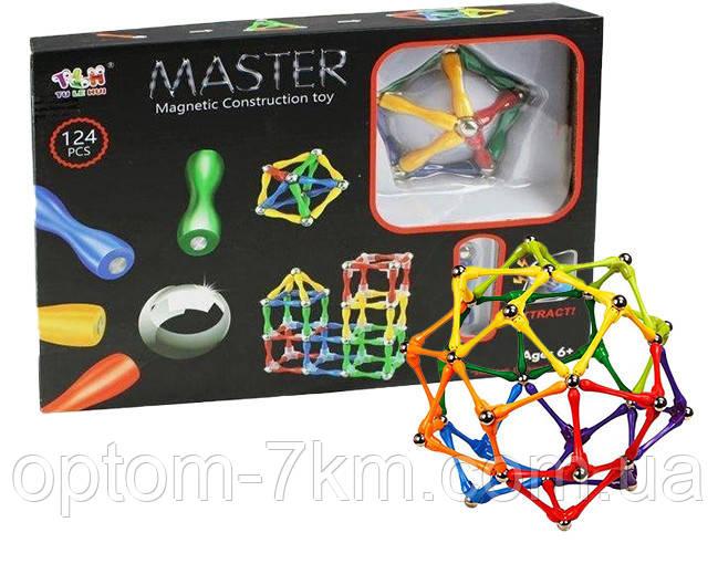 Магнитный конструктор Master Magnetic Construction Building 124детали 3365 VJ