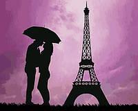 Картины по номерам 40×50 см. Влюбленные в Париже, фото 1