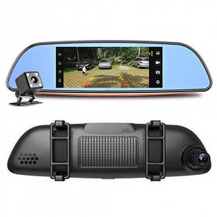 "Видеорегистратор-зеркало DVR D35 ANDROID 6.1 3G LCD 7"" GPS, фото 2"