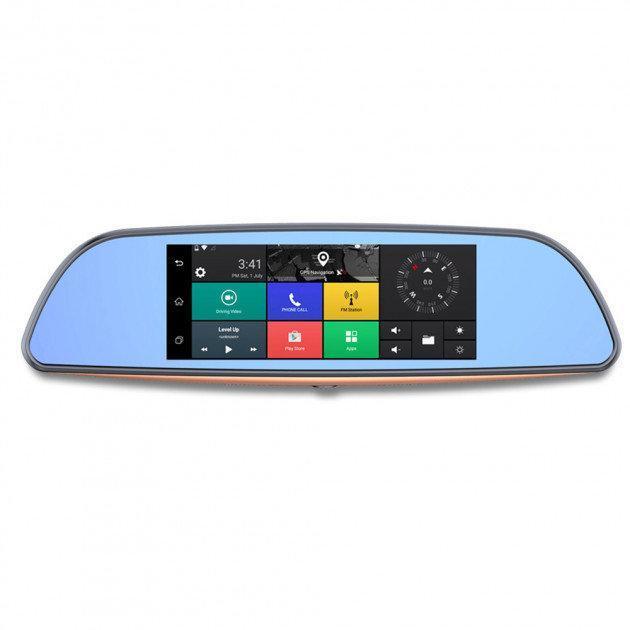 "Видеорегистратор-зеркало DVR D35 ANDROID 6.1 3G LCD 7"" GPS"