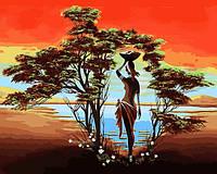 Картины по номерам 40×50 см. Африканских пейзажей