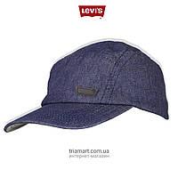 Мужская джинсовая бейсболка Levi's Admiral Denim синяя LVCP01