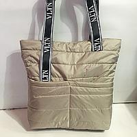 Дутые, болоньевые сумки под пуховик VITN (ХАКИ)34*39см