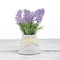 Декоративный вазон композиция из цветов в горшке Time-prezent сирень сиреневая (0268-5-2)