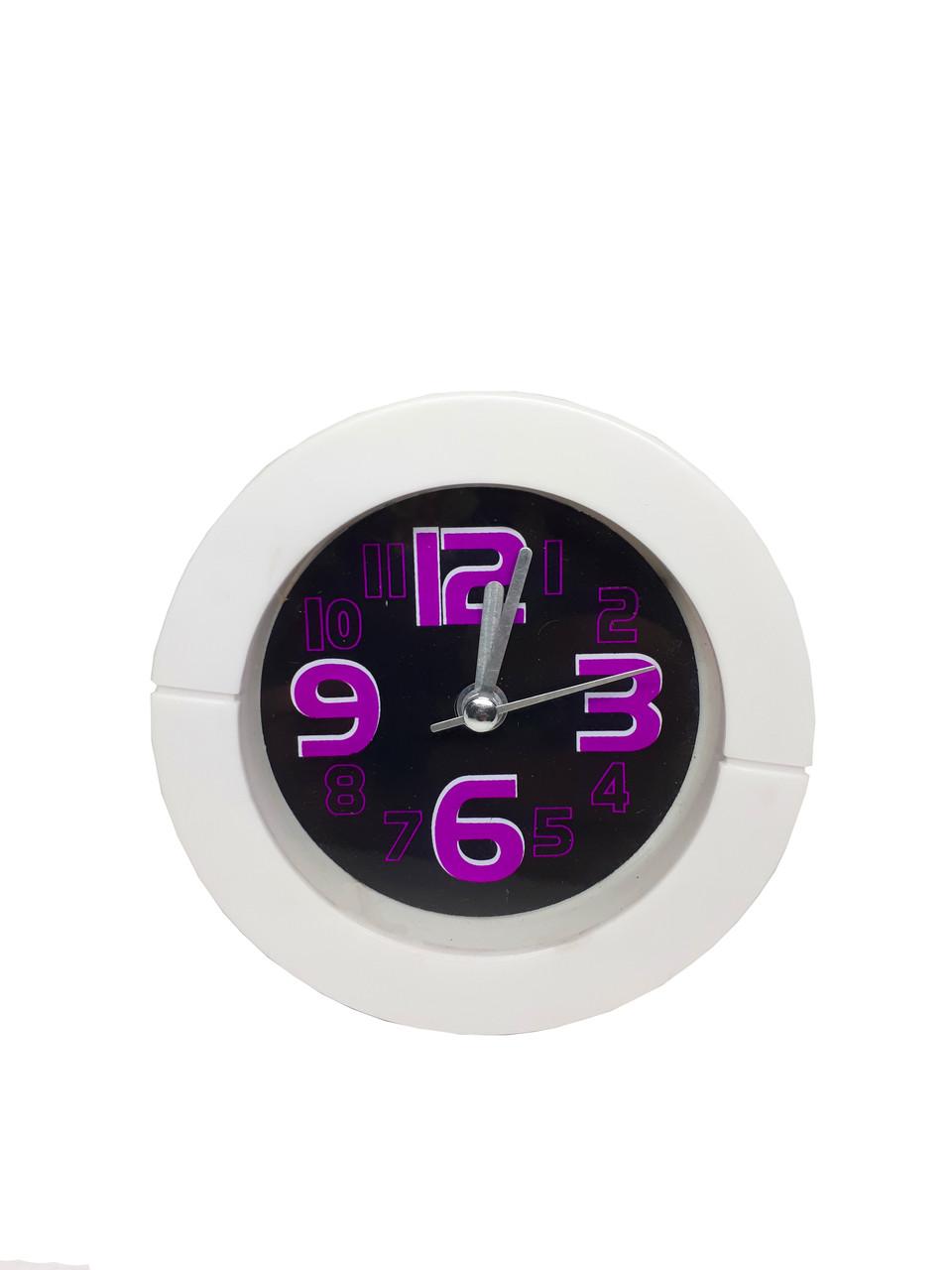 Будильник кварцевый настольный Abeer 637 Фиолетовый