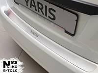 Toyota Yaris 2012 Накладка на задний бампер Натанико