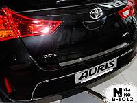 Toyota Auris 2012 Накладка на задний бампер Натанико