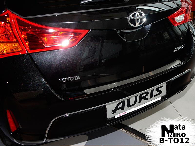 Toyota Auris 2012 Накладка на задний бампер Натанико - Digital Designs Ukraine в Черновцах