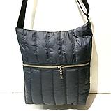 Женские стеганные сумки на плечо оптом (БРОНЗА)32*34см, фото 4