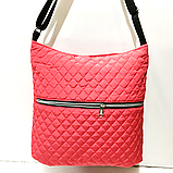 Женские стеганные сумки на плечо оптом (БРОНЗА)32*34см, фото 6