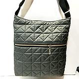 Женские стеганные сумки на плечо оптом (КРАСНЫЙ)32*34см, фото 6