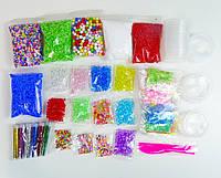 Набор Все Добавки для Слайма №3 декор, добавки, посыпки, контейнеры в Подарочной Упаковке