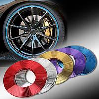 Декоративная молдинг лента для дисков колес титанов защищает от сколов