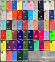 Apple Silicone Case силиконовые чехлы для iPhone 11Pro Max 11 11 Pro на Айфоны с микроволокном/микрофиброй