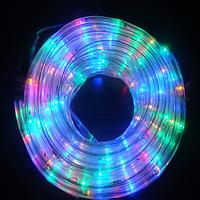 Гирлянда Шланг Дюралайт Мульти 2-х жильный, 2000 см, прозрачный провод, переходник (1-150)