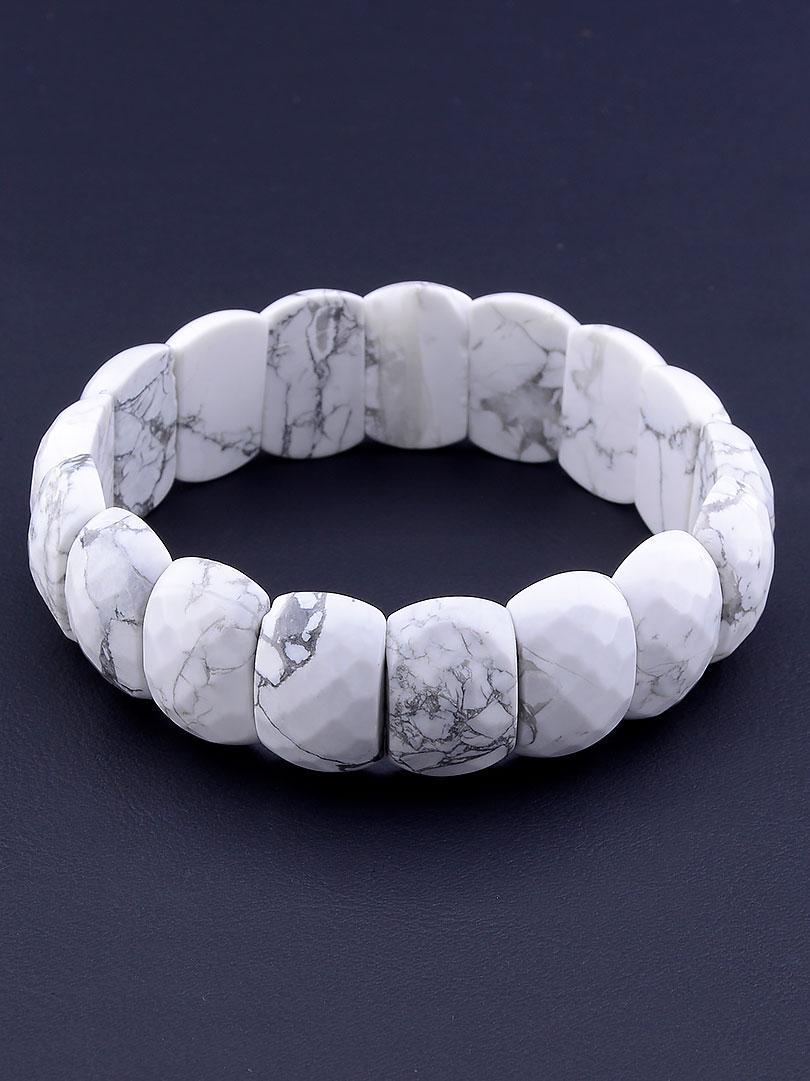 Браслет из натурального камня Кахолонг 20 см