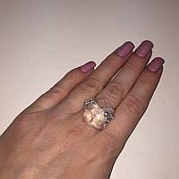 Кольцо горный хрусталь кольцо с горным хрусталем размер 19.2 Индия