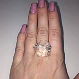 Горный хрусталь кольцо с необработанным горным хрусталем размер 19.2 Индия, фото 3