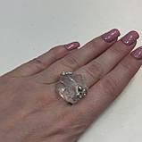 Горный хрусталь кольцо с необработанным горным хрусталем размер 19.2 Индия, фото 2