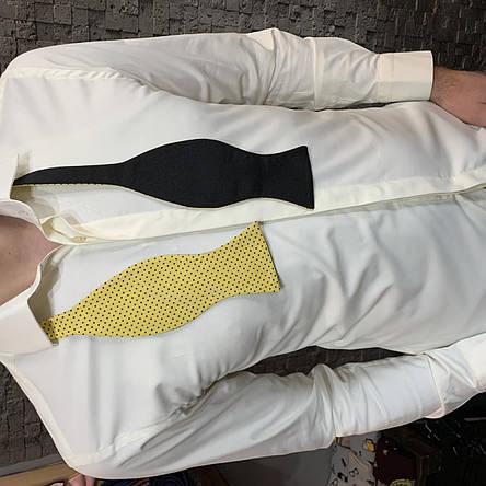 Краватка-метелик I&M Craft самовяз жовтий горох (010131), фото 2