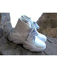 Женские зимние ботинки Haries, кожа, мех