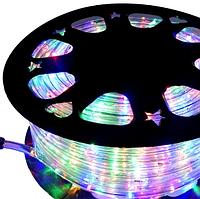 Гирлянда Шланг Дюралайт Мульти 2-х жильный, 5000 см, прозрачный провод, переходник (1-50)