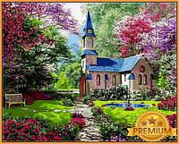 Картины по номерам 40×50 см. Babylon Premium Цветущий сад  Художник Доминик Дэвисон, фото 1