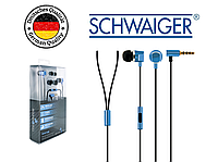 Наушники вкладыши вакуумные SCHWAIGER KH410B, Handsfree, металлические, синие