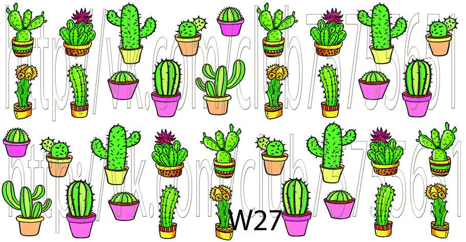 Слайдер дизайн для ногтей кактусы