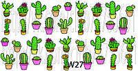Слайдер дизайн для ногтей кактусы, фото 1
