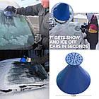 [ОПТ] Автомобільний скребок для льоду у формі воронки. Конус-скребок для очищення снігу і льоду з лобового, фото 5