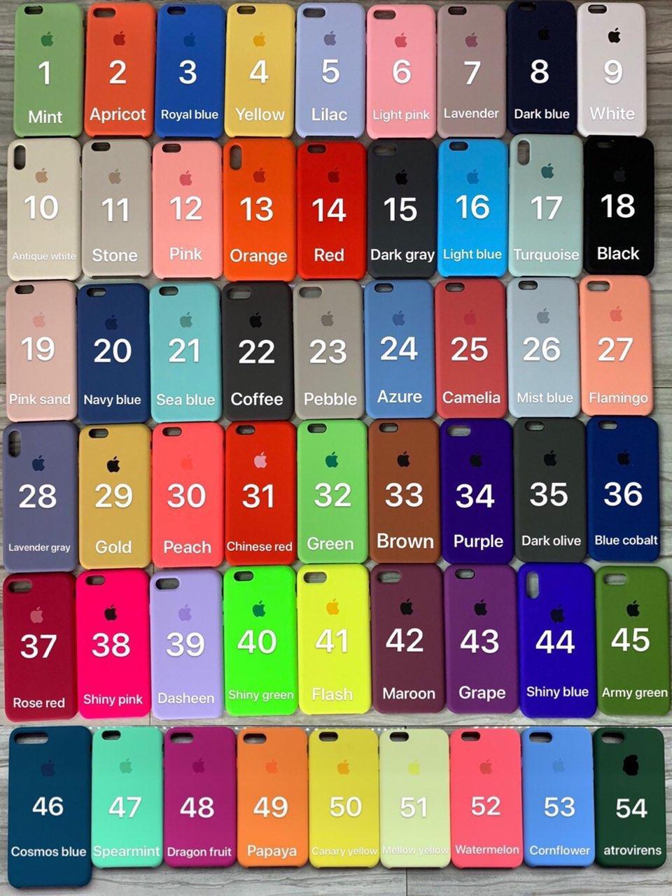 Силіконовий чохол Apple Silicone Case для iPhone 5/5s/SE 6/6s 6+ 7/8 7Plus/8+ X10 XR XS Max на Айфон
