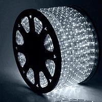 Гирлянда Шланг Дюралайт Холодный белый 2-х жильный, 5000 см, прозрачный провод, переходник (1-51)