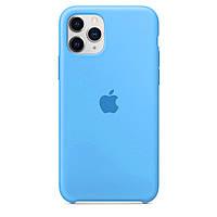 Чехол для iPhone 11 Pro Max Silicone case голубой