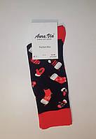 """Новогодние носки мужские  зимние без махровые внутри хлопок """"Aura"""" 43-46"""