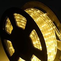 Гирлянда Шланг Дюралайт Теплый белый 2-х жильный, 5000 см, прозрачный провод, переходник (1-52)