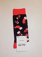"""Новогодние носки мужские  зимние без махровые внутри хлопок """"Aura"""" 39-42"""