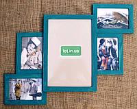 Коллаж #305, дерево, бирюза, орех, белый, бесцветный, чёрный, венге, серый., фото 1